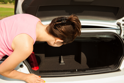 Cleaning supplies to carry in your car trunk