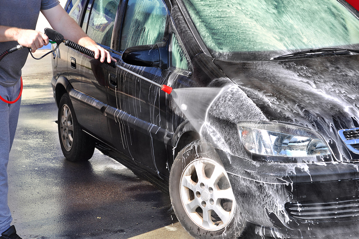 Self serve car wash sprayer wand