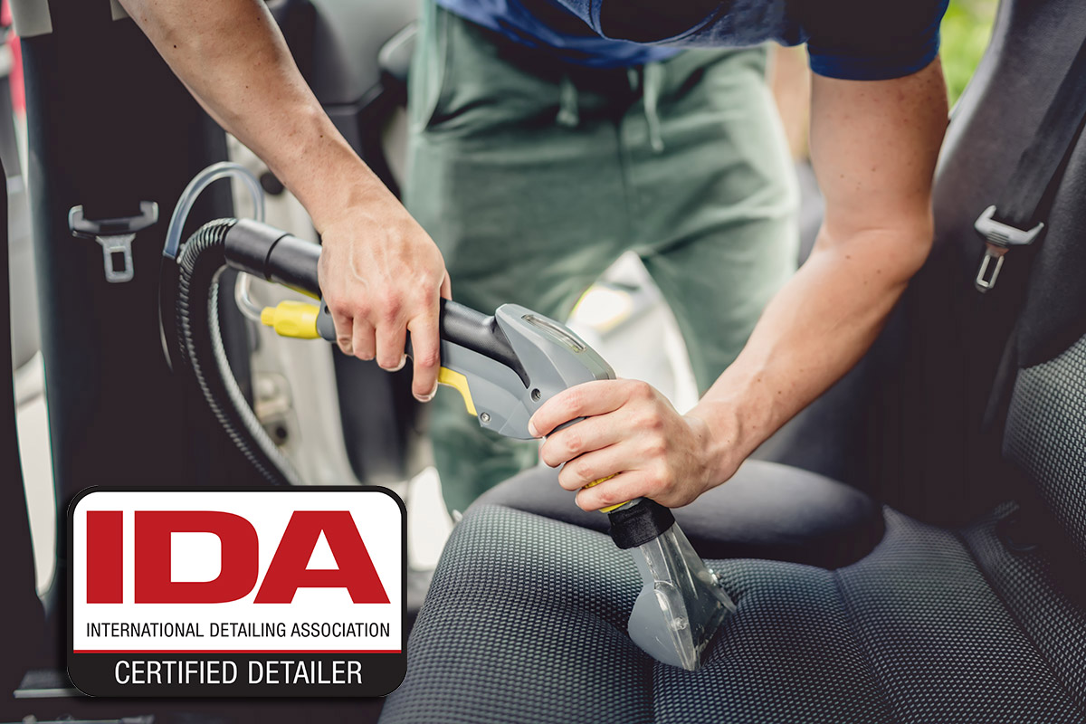 IDA certified interior car detailing