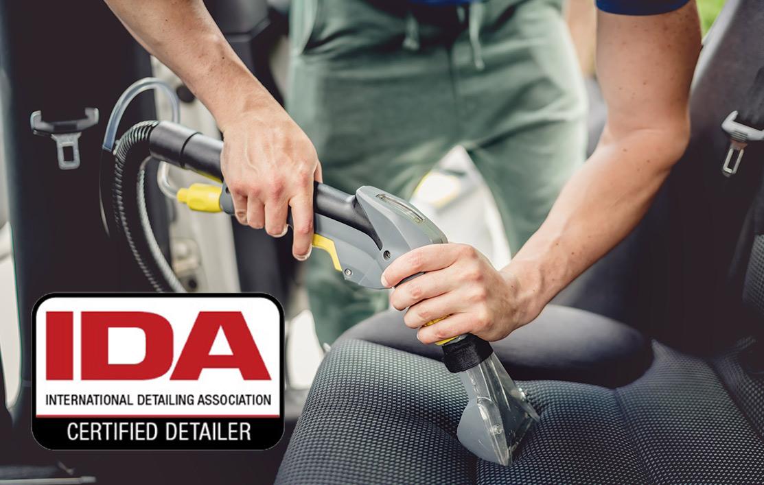 IDA certified interior car detailing